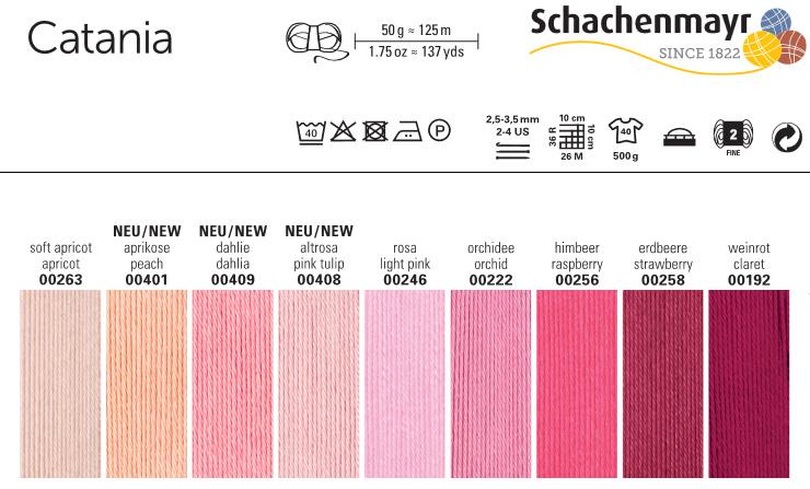 00128 CATANIA von Schachenmayr FUCHSIA 125 m Wolle - 50 g // ca